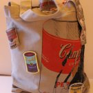 Andy Warhol Design Tote Grocery Shopper Campbell's Soup Can Patches Loop New