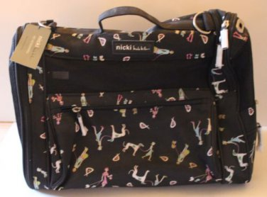 Nicole Miller Convertible Pet Carrier Bed Crate Animal Carry-On Women & Dogs New