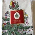 Spode Shower Curtain Fabric & Bath Accessory Set Ceramic Christmas Tree New