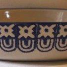 Grestel Casserole Baker Cobalt Blue Ivory Ironstone Stoneware Oval Stamped New