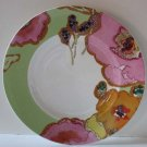 Lenox Plate Stephanie Ryan Floral Fusion Kiwi Green Accent Snack Dessert New