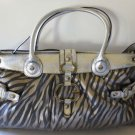Guess Handbag Allegra Zebra Shoulder Bag Satchel Travel Overnight Lap Top New