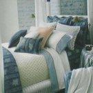 Ralph Lauren Sheet Biarritz Cuff Stripe King Flat 100% Cotton First Quality New
