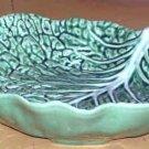Bordallo Majolica Bowl Serving Vegetable Savoy Cabbage Leaf Embossed Ceramic New