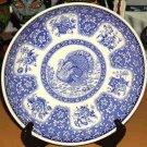 Spode Plate Blue Festival Turkey Toile Dinner Accent Porcelain Transferware New