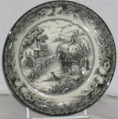 Royal Stafford Bowl Harvest Home Hay Wagon Country Farmhouse Soup Cereal New