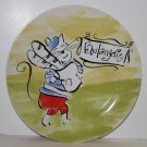 Rosanna Plate French Parisian Cat Bread Boulangerie Dessert Lunch Stoneware New