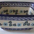 Boleslawiec Polish Pottery Bowl Serving Square Floral Stoneware Poland New