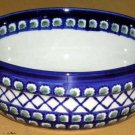 Boleslawiec Polish Pottery Bowl Serving Olives Cross Hatch