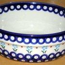 Boleslawiec Polish Pottery Bowl Cornflower Mixing Serving Stoneware Poland New