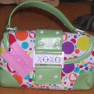 XOXO Tote Handbag Seaside Bubble Madonna Mint Flap Top Purse Hearts New