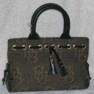 Dooney & Bourke Handbag Bronze Black Tiny Tassel Monogram Tote New Designer