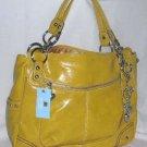 Kathy Van Zeeland Satchel Saffron Amazing Glaze Handbag Chain Charms New