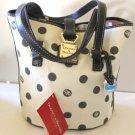 Dooney & Bourke Bucket Bag Tote North South Cream Black Signature New Designer