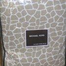 Michael Kors Coverlet Pillow Sham Set Nairobi Dune Leopard Full/Qn Quilted New