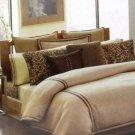 Michael Kors Sham Standard Park Avenue Woven Herringbone New Luxury Linen Cotton