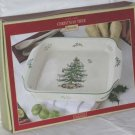 Spode Casserole Dish Christmas Tree Lasagne Handled Baker Large New