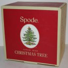 Spode Double Old Fashioned Glasses Christmas Tree Gold Gilding 14 oz Set 4 New