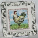 Italian Brunelli Plate Rooster White Dessert Salad Lunch Stoneware Italy New