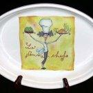 Brunelli Italian Female Chef Baker La Femme Au Gratin Yellow Stoneware Italy New