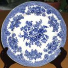 Johnson Bros Plate Dinner Blue Asiatic Pheasant Floral Pictorial Earthenware New