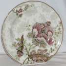 222 Fifth Plate Round Gabrielle Floral Jacobean Salad Porcelain Scalloped New