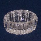 Vtg Clear Glass Mardi Gras by Duncan & Miller(?)-Oval Open Salt Dip/Salt Cellar