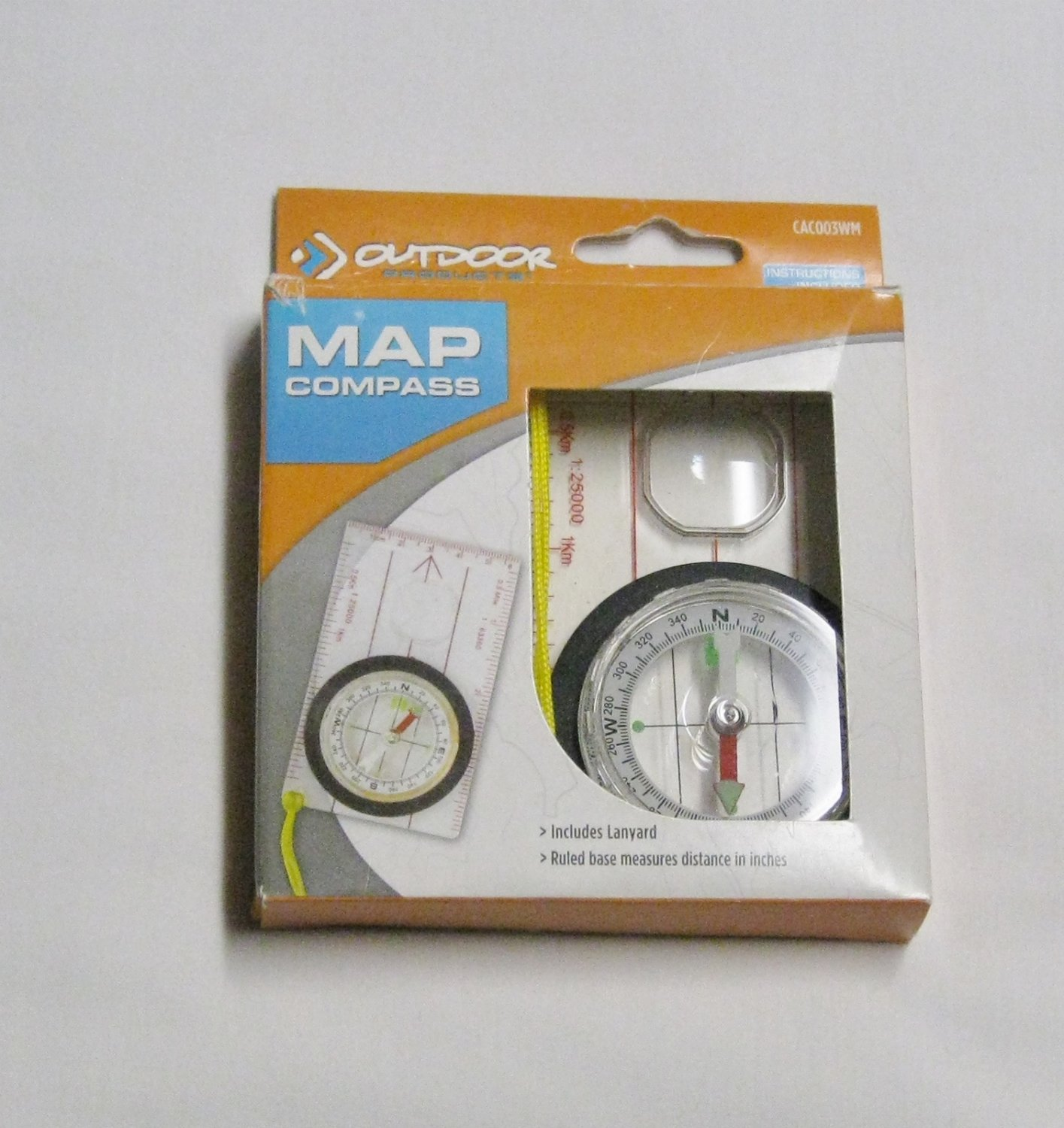 NIP Map Compass with Lanyard by Outdoor Products