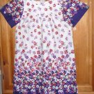 NATIONAL WOMEN'S HOUSE DRESS LONG SIZE S FITS LIKE LARGE PURPLE MULTI