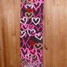 OLD NAVY WOMEN'S LIGHT AND SOFT PLUSH SCARF HEARTS TASSEL