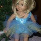 AMERICAN GIRL doll clothes- BLUE leotard/tutu- 18 inch dolls