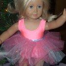 AMERICAN GIRL doll CORAL leotard and tutu- gymnastics