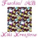20ss FUSCIA/AB swarovski flatback rhinestones- 144 pcs