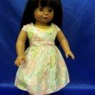 "PASTEL print dress- AMERICAN GIRL- 18"" dolls"
