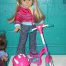 AMERICAN GIRL doll acessories-SCOOTER & HELMET