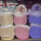 Pink fuzzy doll slippers- new- fits American Girl dolls