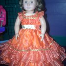 Cinnamon Prom/Party Dress with Gold Accents - American Girl