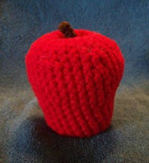 Play Food Hand Crocheted Apple