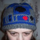 R2D2 Star Wars Hat, Hand Knit - Free USA Shipping!
