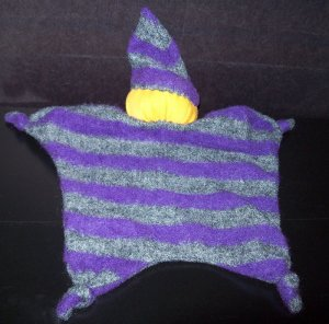 Purple, Grey, Yellow Blankey Baby, Blanket Comfort Doll - Free Shipping