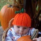 Newborn, Reborn, American Girl size Pumpkin Hat, Halloween, Autumn - Free USA Shipping!