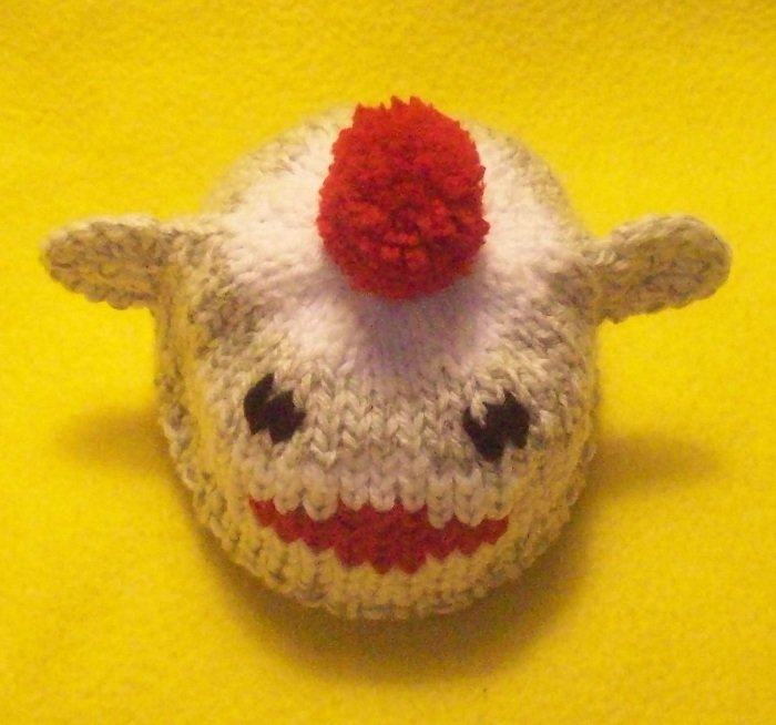 Infant, baby size Sock Monkey Hat, Hand knit - Free USA Shipping!