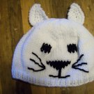 Child Size Cat Hat, Hand Knit - Free USA Shipping!