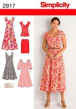 Simplicity 2917 Miss/Plus Size Dresses