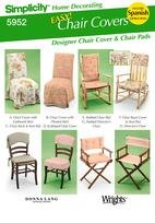 Simplicity 5952 Designer Chair Covers and Chair Pads