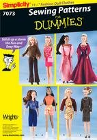Sewing for Dummies 7073 11 1/2 Fashion Doll Clothes.