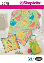 Simplicity 2575 Kitty Quilt, wallhanging and totebag
