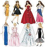 McCalls 8552 Barbie Fashion Doll Clothes