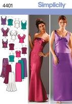 Simplicity 4401 Miss/Plus Size Special Occasion/Prom Dresses20w-28w