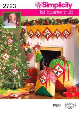 Simplicity 2723 Christmas stocking, ornaments, tree skirt